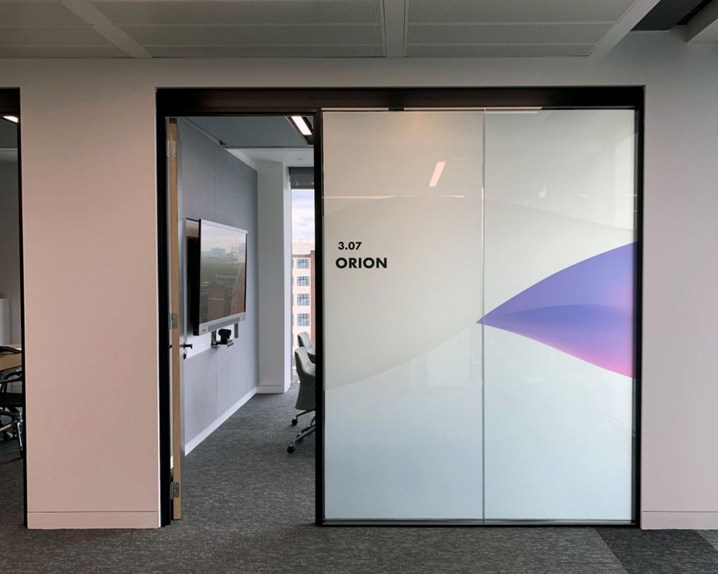 Orion Room Frosted Glass