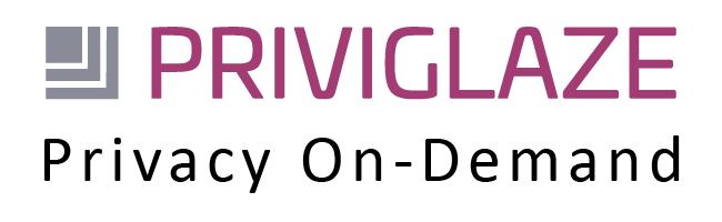 Priviglaze logo in two colours and strap line Privacy On-Demand