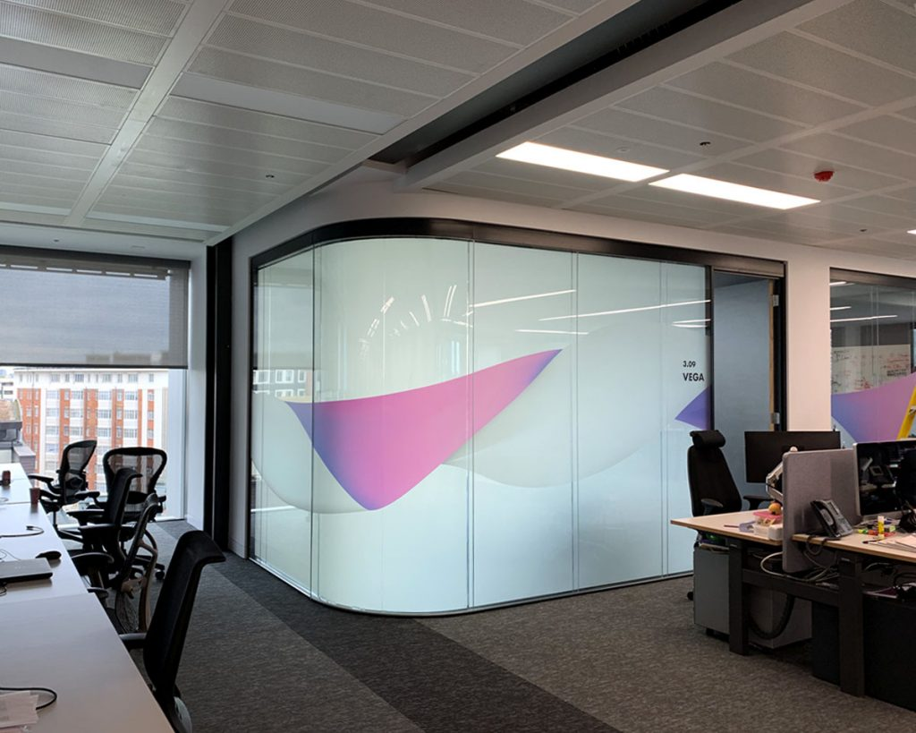 Office with Frosted Smart Film