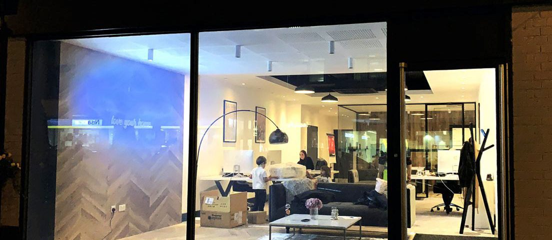 Switchable Privacy Glass on Shop Front