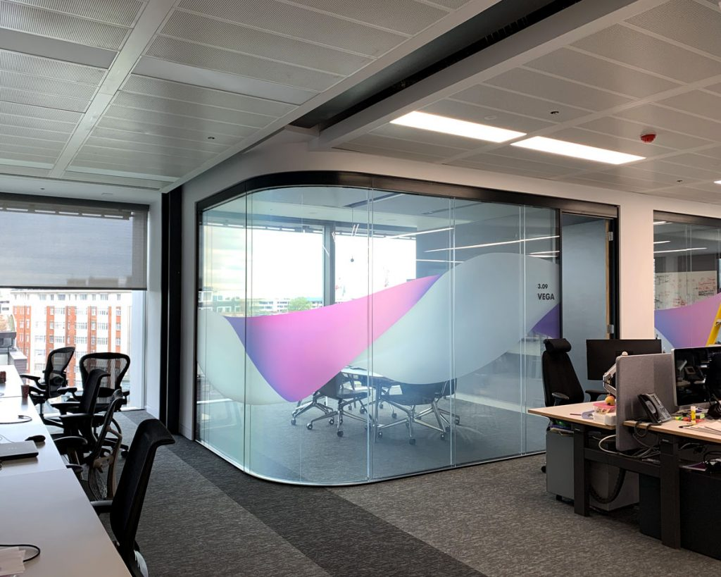 Office with Clear Smart Film