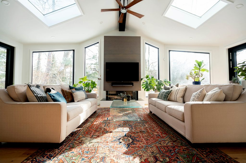 Living Room with Skylights