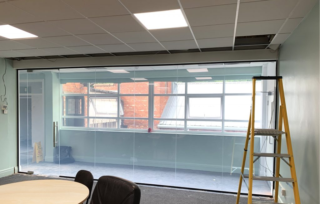 Clear Smart Glass Meeting Room