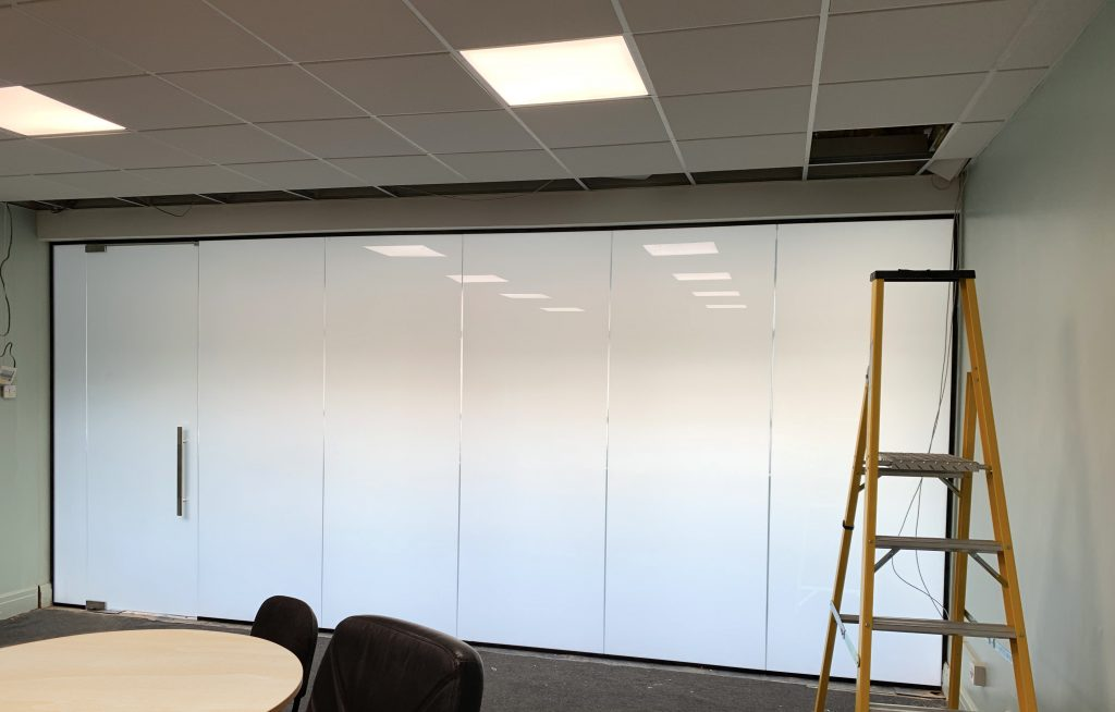 Frosted Smart Glass Meeting Room