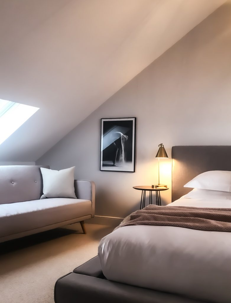 Hotel Room with Skylight
