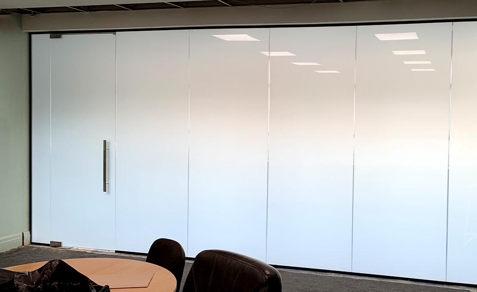 Smart Glass Partition Off