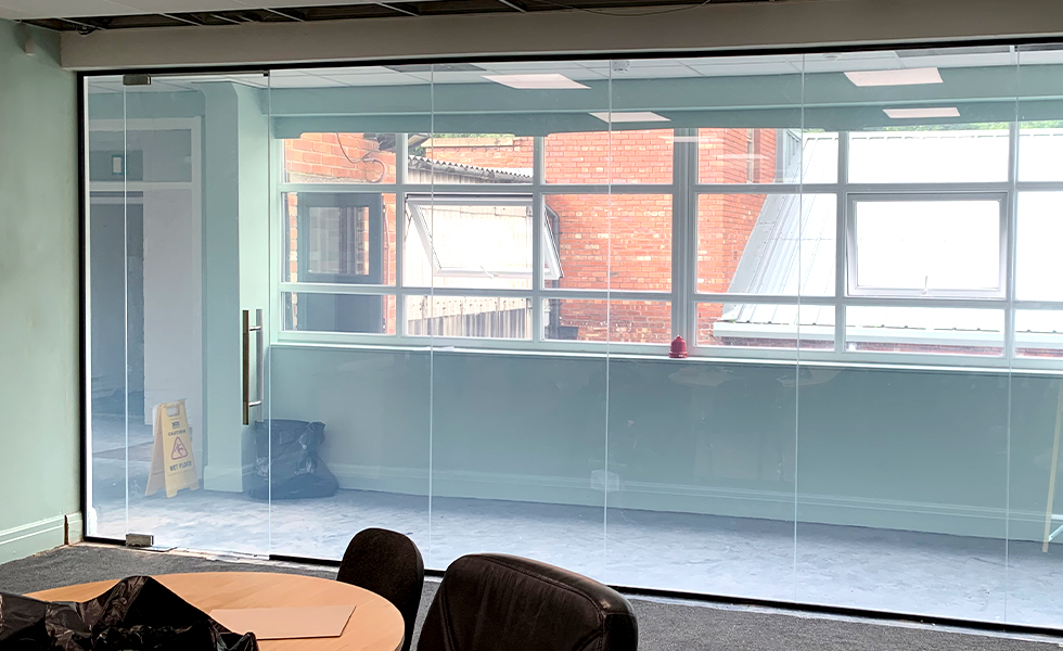 Smart Glass Partition On