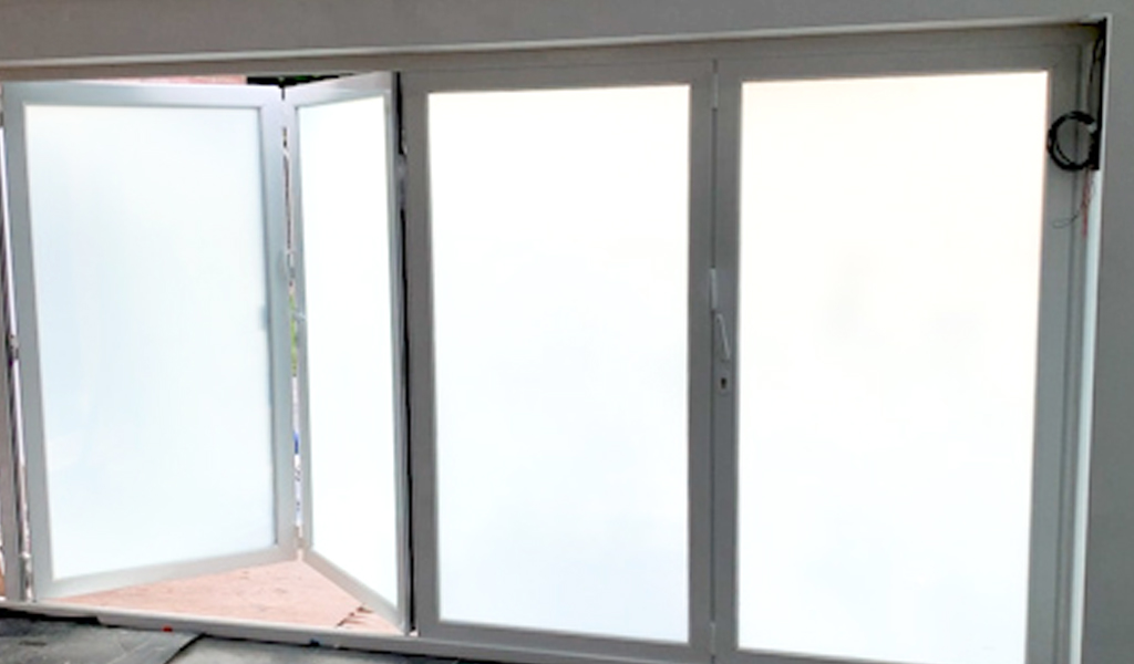 Frosted Glass Bifold Doors